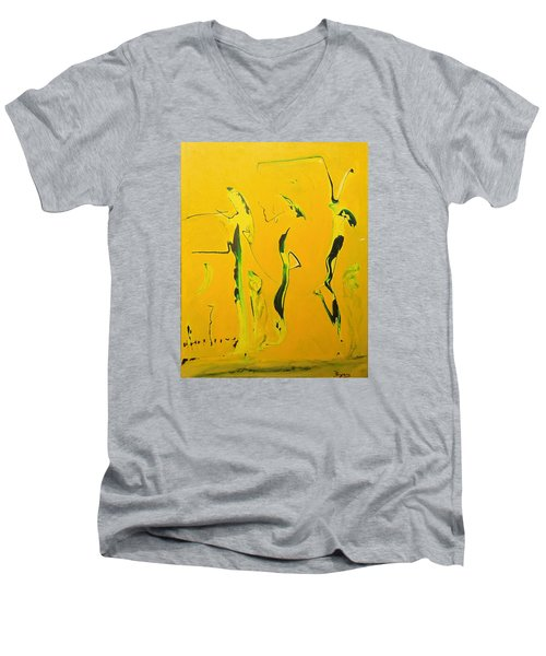 Dames Du Salon Francais Men's V-Neck T-Shirt by Kicking Bear  Productions