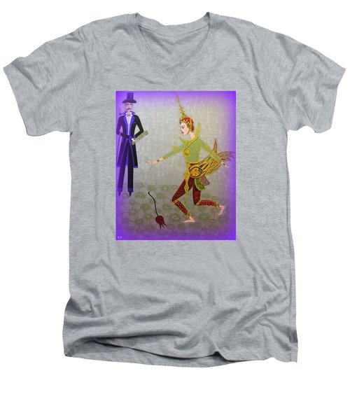 Dance Of A Nymph Men's V-Neck T-Shirt by Marie Schwarzer