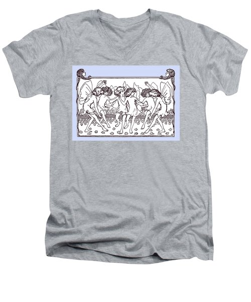 Dancing Fairies From 1896 Men's V-Neck T-Shirt by Phil Cardamone