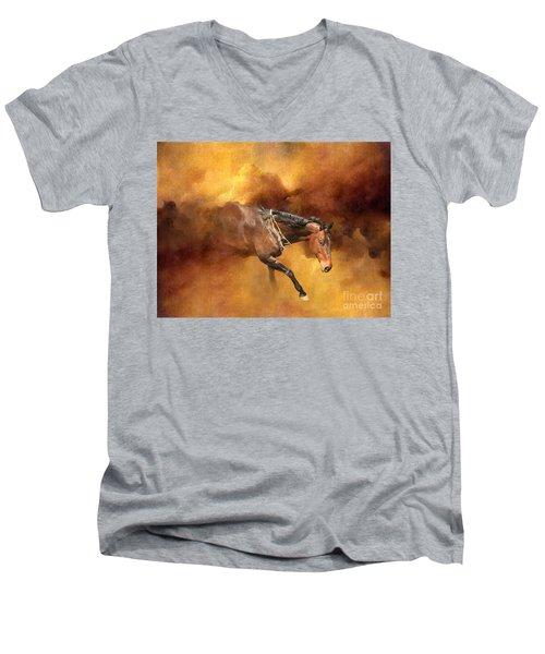Dancing Free II Men's V-Neck T-Shirt by Michelle Twohig