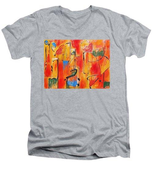Dancing In The Heat Men's V-Neck T-Shirt