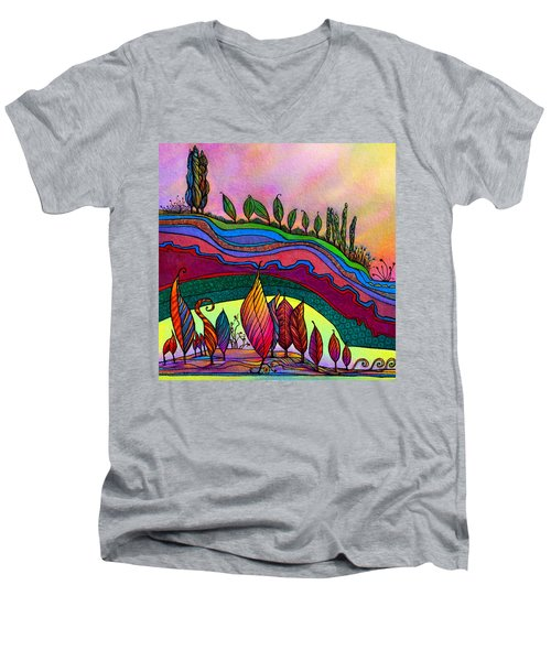Dancing In The Sunshine Men's V-Neck T-Shirt