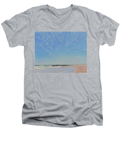 Dancing Sky In April Men's V-Neck T-Shirt