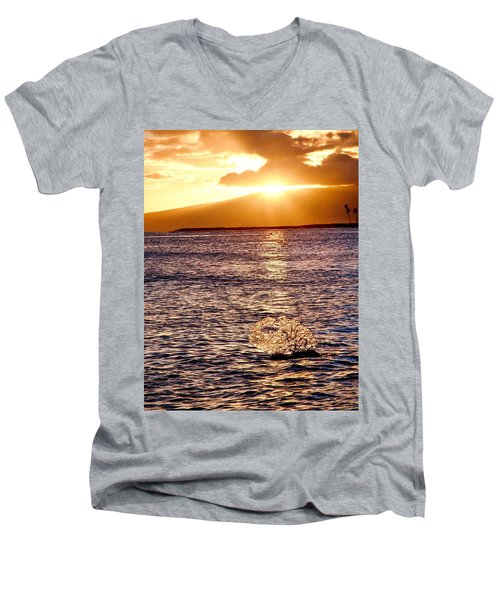 Dancing Water Men's V-Neck T-Shirt