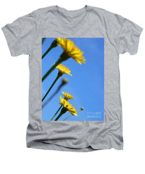 Dancing With The Flowers Men's V-Neck T-Shirt
