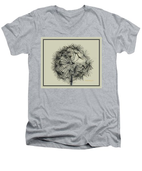 Men's V-Neck T-Shirt featuring the photograph Dandelion 6 by Kathy Barney