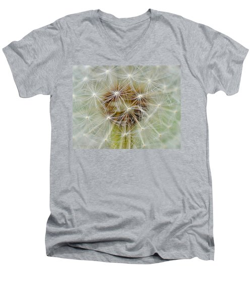 Dandelion Matrix Men's V-Neck T-Shirt
