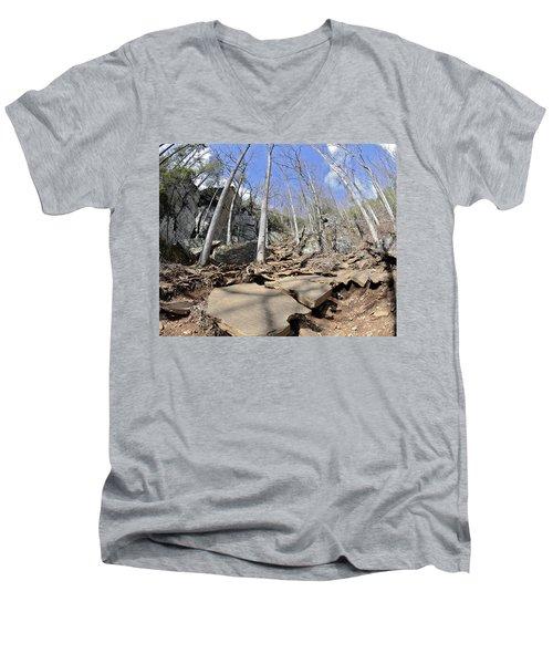 Dangerous Hiking Trail Men's V-Neck T-Shirt