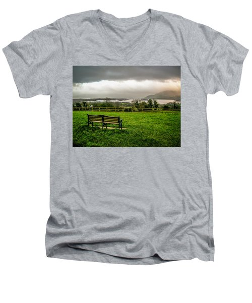 Dark Clouds Over Killarney Lakes Men's V-Neck T-Shirt
