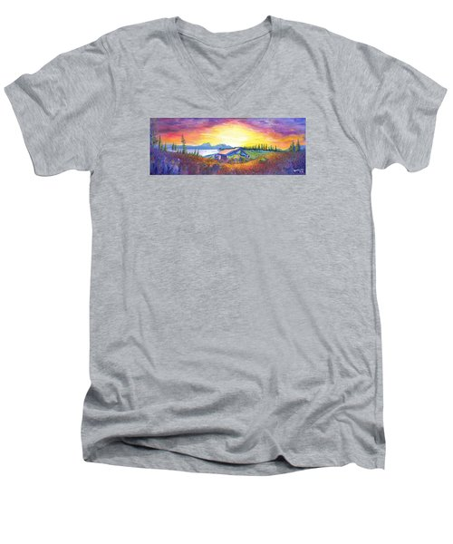 Dark Star Orchestra Dillon Amphitheater Men's V-Neck T-Shirt by David Sockrider