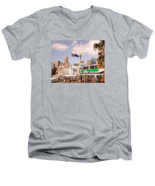 Darling Harbor Men's V-Neck T-Shirt