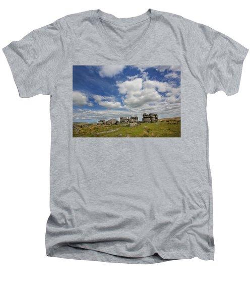 Dartmoor Tor Men's V-Neck T-Shirt