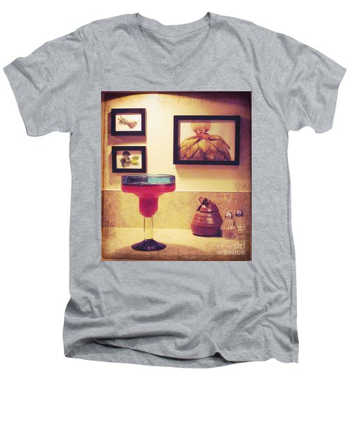 Men's V-Neck T-Shirt featuring the photograph Date With Self by Meghan at FireBonnet Art