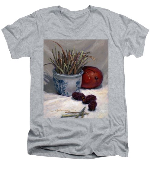 Dates Lemongrass And Mango Men's V-Neck T-Shirt