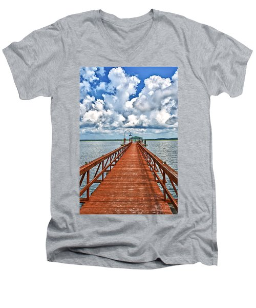 Daufuskie Pier Men's V-Neck T-Shirt