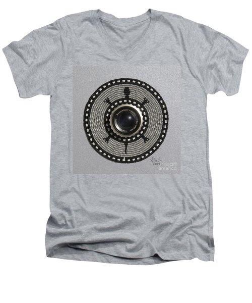 Camera Lens Men's V-Neck T-Shirt