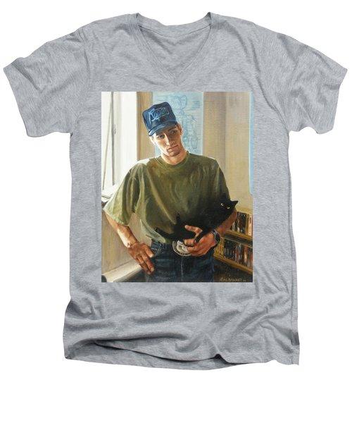 David And Pulim Men's V-Neck T-Shirt