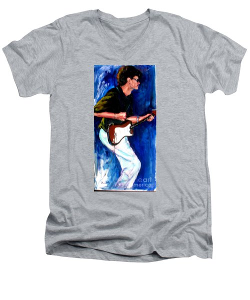 David On Guitar Men's V-Neck T-Shirt