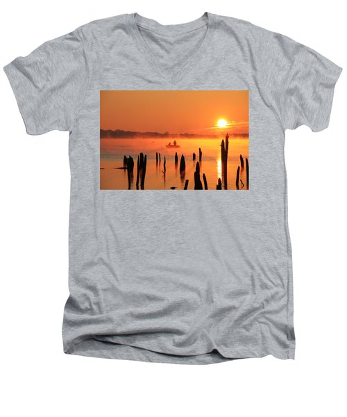 Dawn Fishing Men's V-Neck T-Shirt