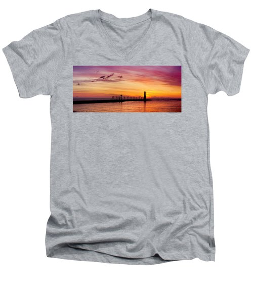 Dawn Of Promise Men's V-Neck T-Shirt