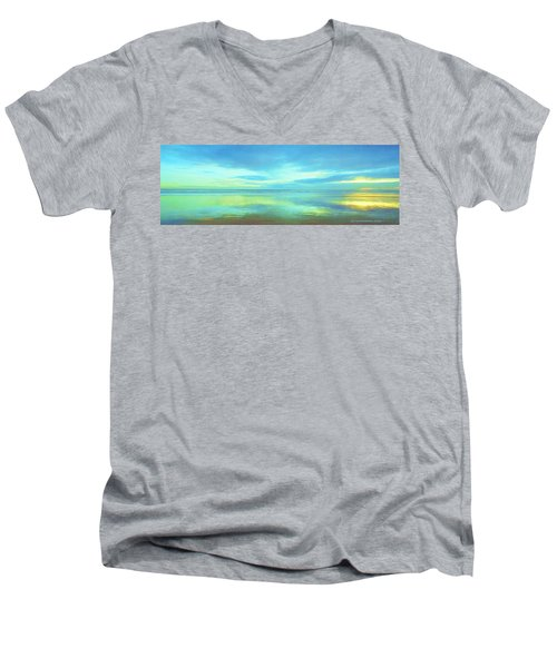 Dawning Glory Men's V-Neck T-Shirt by Sophia Schmierer