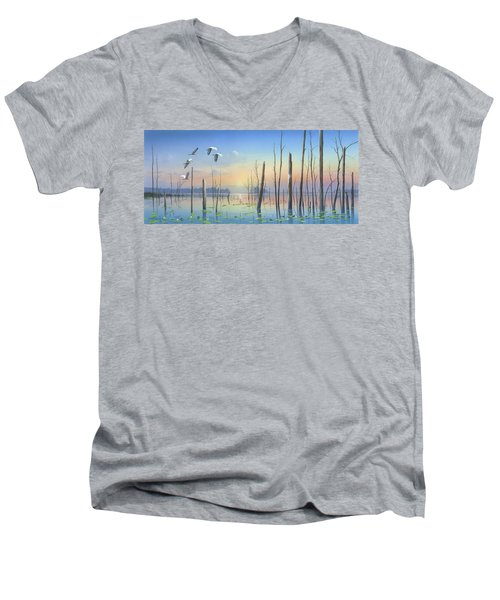 Dawns Early Light Men's V-Neck T-Shirt