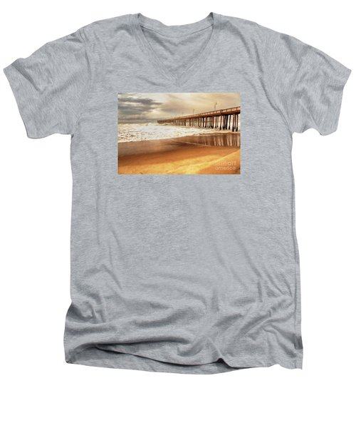 Day At The Pier Large Canvas Art, Canvas Print, Large Art, Large Wall Decor, Home Decor, Photograph Men's V-Neck T-Shirt by David Millenheft