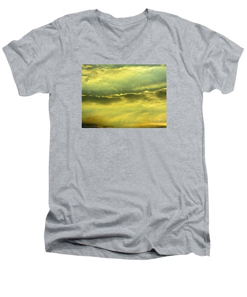 Men's V-Neck T-Shirt featuring the photograph Day Is Done by Joy Hardee
