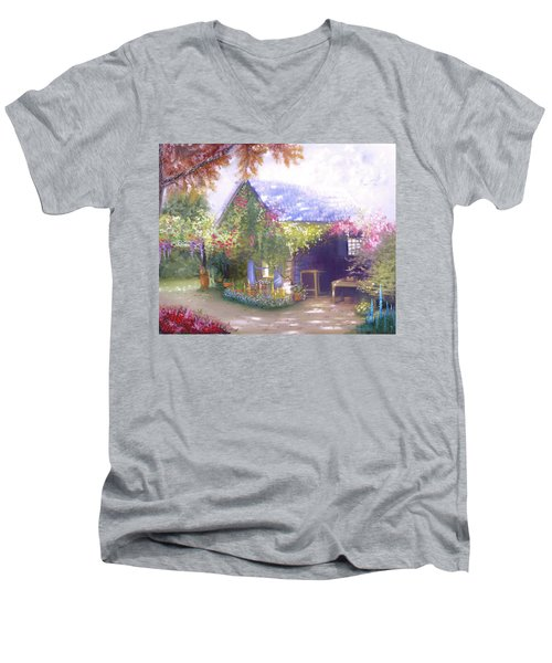 Daylesford Cottage Men's V-Neck T-Shirt