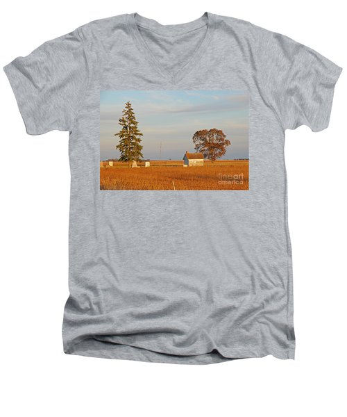 Men's V-Neck T-Shirt featuring the photograph Days End by Mary Carol Story