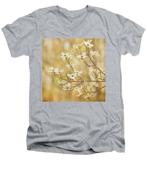Days Of Dogwoods Men's V-Neck T-Shirt
