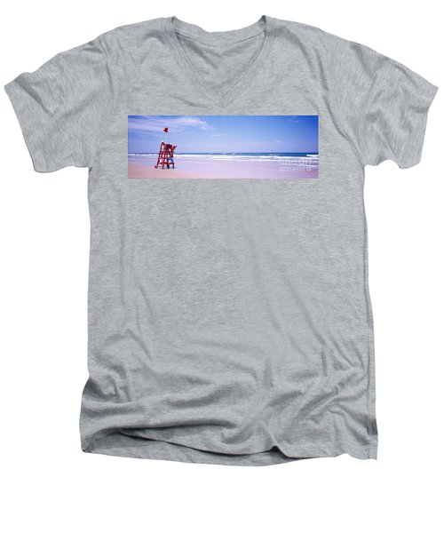 Daytona Beach Fl Life Guard  Men's V-Neck T-Shirt