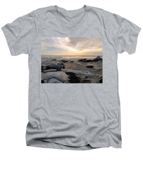 Dazzling Winter On Lake Superior Men's V-Neck T-Shirt