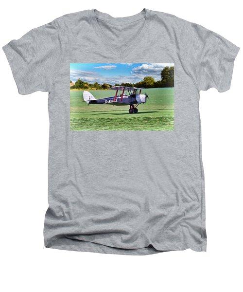 De Havilland Tiger Moth 2 Men's V-Neck T-Shirt