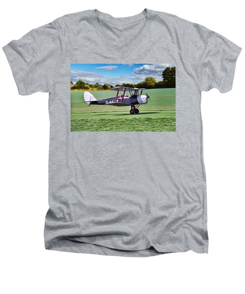 De Havilland Tiger Moth Men's V-Neck T-Shirt