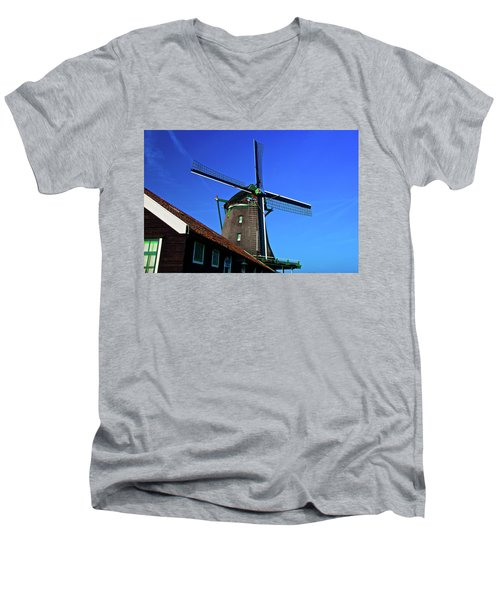 Men's V-Neck T-Shirt featuring the photograph De Zoeker Blue Skies by Jonah  Anderson