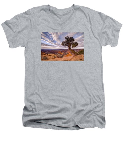 Dead Horse Point Sunrise Men's V-Neck T-Shirt by Dustin  LeFevre