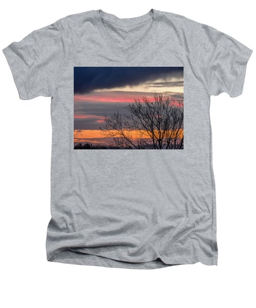 December County Clare Sunrise Men's V-Neck T-Shirt