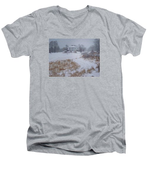 December Men's V-Neck T-Shirt by Joy Nichols