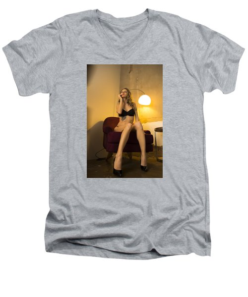 Deep Thoughts 1 Men's V-Neck T-Shirt by Mez