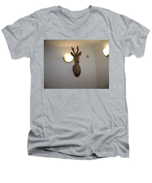 Deer Head Men's V-Neck T-Shirt