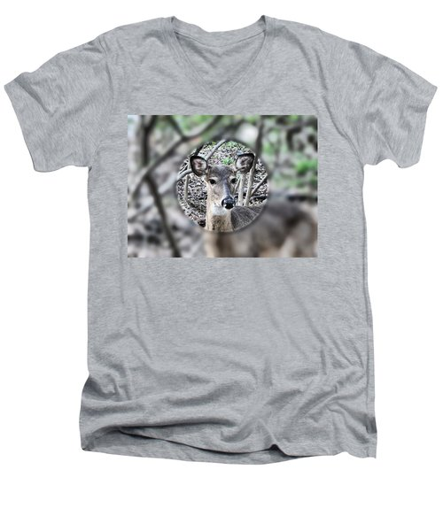 Deer Hunter's View Men's V-Neck T-Shirt