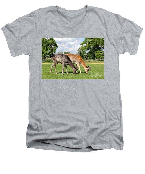 Two Deer Men's V-Neck T-Shirt