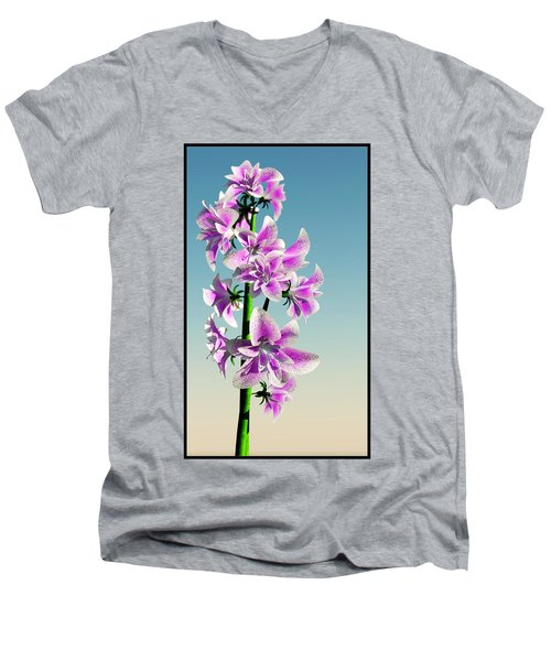 Delicate Flower... Men's V-Neck T-Shirt