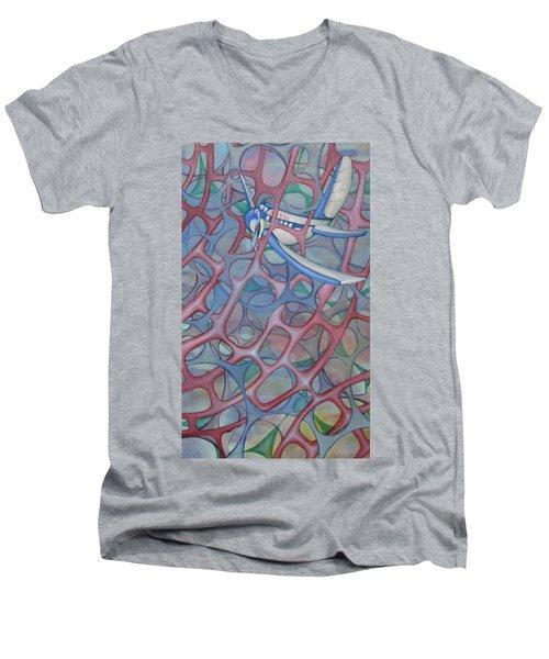 Delta In A Web Men's V-Neck T-Shirt