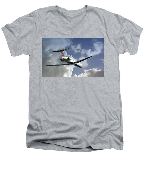 Delta Jet Men's V-Neck T-Shirt by Brian Wallace
