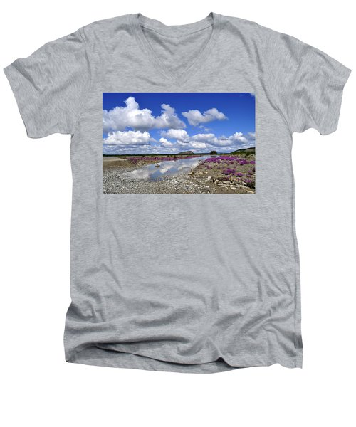 Men's V-Neck T-Shirt featuring the photograph Delta Junction Summer by Cathy Mahnke
