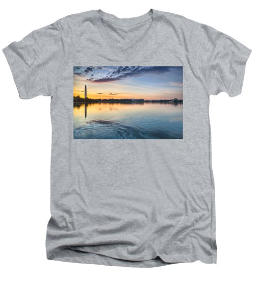 Men's V-Neck T-Shirt featuring the photograph Democracy Awakens by Sebastian Musial