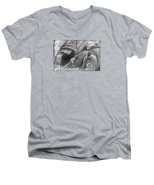 Men's V-Neck T-Shirt featuring the photograph Dented Ego by Jean OKeeffe Macro Abundance Art