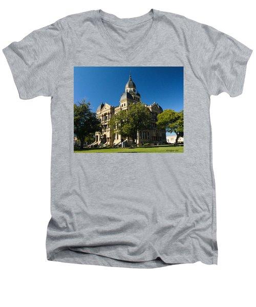 Denton County Courthouse Men's V-Neck T-Shirt